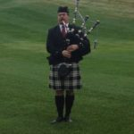 Bag piper opening ceremonies at Memorial Golf  Tournament at Lookaway 2012