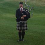Bag piper opening ceremonies at Memorial Golf  Tournament at Lookaway 2012